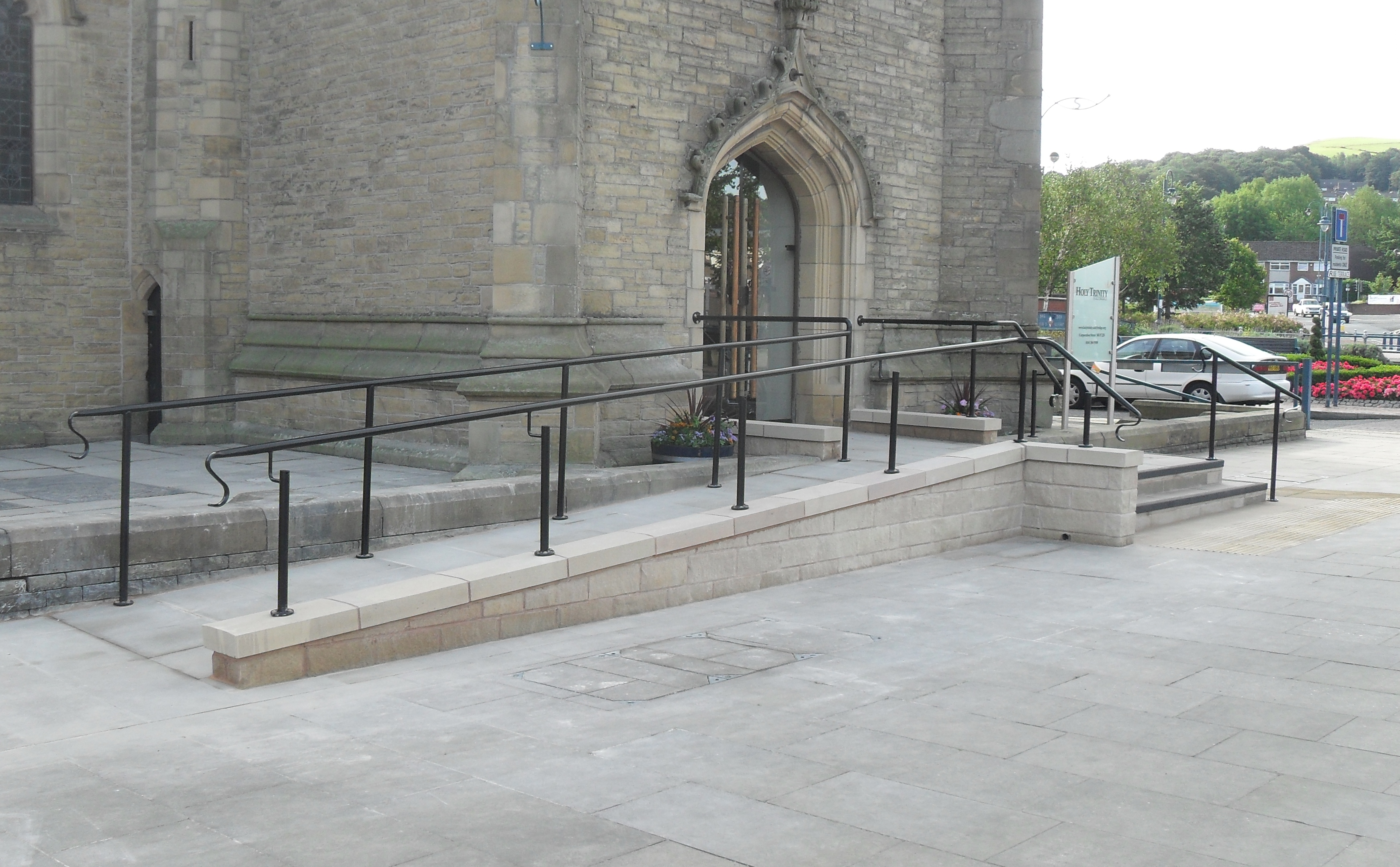 New disabled access ramp to Grade 2 Listed Church